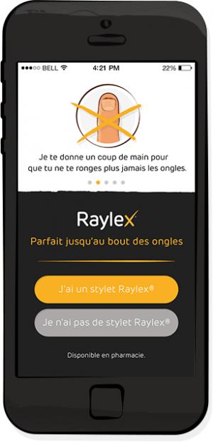 arrête de se ronger les ongles avec Raylex app